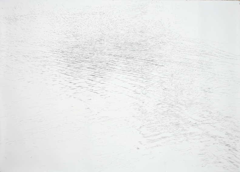 Water for Eliza, 2013, charcoal on paper, 52 x 72